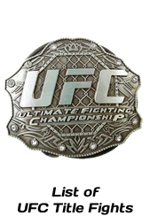 List of UFC Title Fights